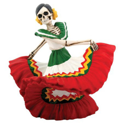 Day of the Dead Dancing Senorita with Red Skirt