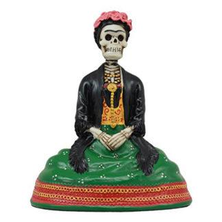Dias De Los Muertos Sitting Lady Skeleton Figurine