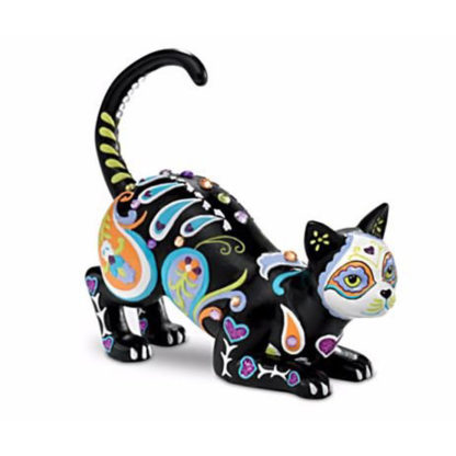 Day of the Dead Black Cat Figurine