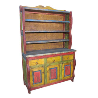 Mexican Vintage Multicolor Cupboard Shelf