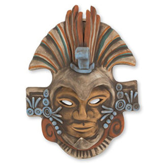 Aztec Eagle Warrior Ceramic Mask