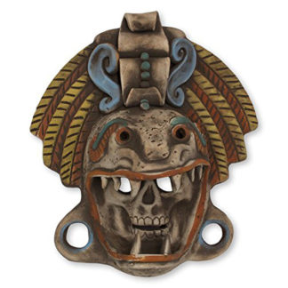 Ceramic Quetzalcoatl Warrior Mask