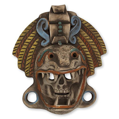 Ceramic Quetzalcoatl Warrior Mask