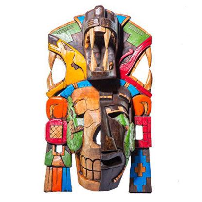 Mayan Jaguar Half Skull Giant Mask