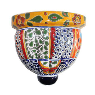 Mexican Talavera Large Wall Planter