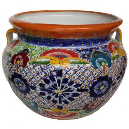 Big Multicolor Talavera Ceramic Pot