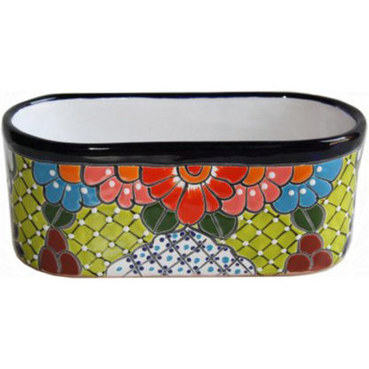 Cuna Talavera Mexican Ceramic Pot