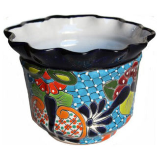 Duero Talavera Mexican Ceramic Pot