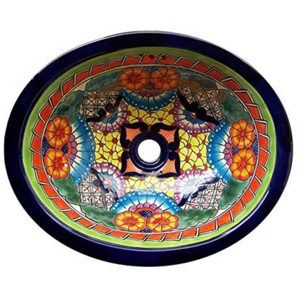 Talavera Mexican Handmade Hand Painted Sink