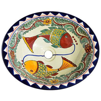 Talavera Mexican Handmade Hand Painted Sink