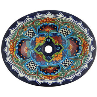 Mexican Talavera Bathroom Hand Painted Sink