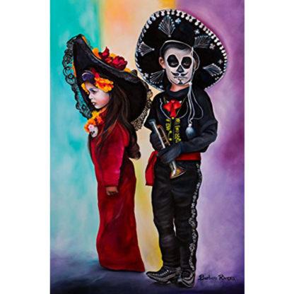 La Catrina & Little Charo Original Barbara Rivera Art Print