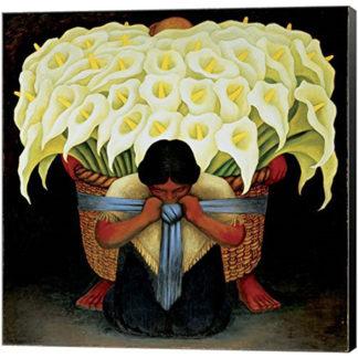 El Vendedor de Alcatraces by Diego Rivera