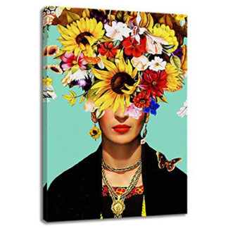 Viva Frida Kahlo Floral Canvas Painting