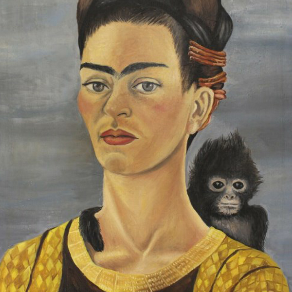 Frida Kahlo Signed Original Oil Painting