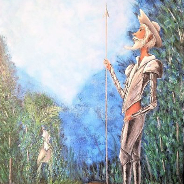 Don Quijote Original Art Painting 2 x 3 ft